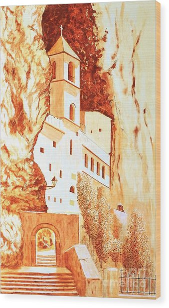 Ostrog Abbey. Montenegro. Wood Print by Sasa Djerkovic