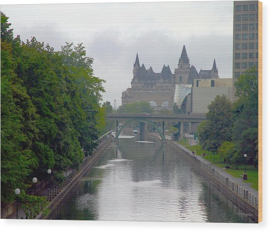 Ottawa Rideau Canal Wood Print