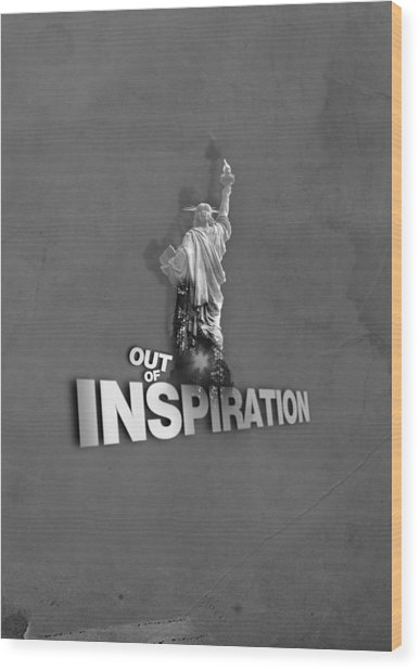 Out Of Inspiration Wood Print by Daniel Stephen Gallery