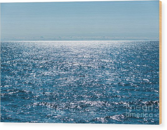 Out To Sea Wood Print by Christina Klausen
