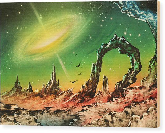 Outer Eye Galaxy Wood Print by Tony Vegas