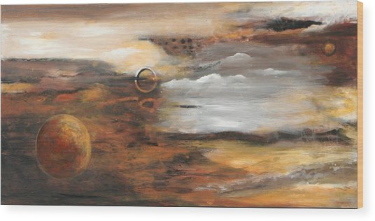 Outer Moons Wood Print