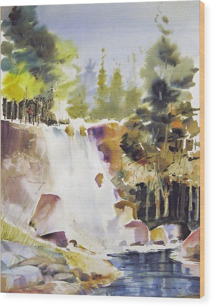 Overlooking The Falling Wood Print