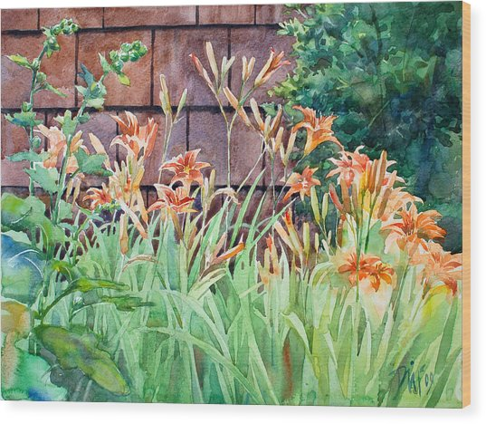 Oxenden Lilies Wood Print by Peter Sit