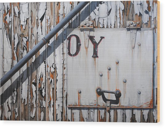 ...oy Wood Print