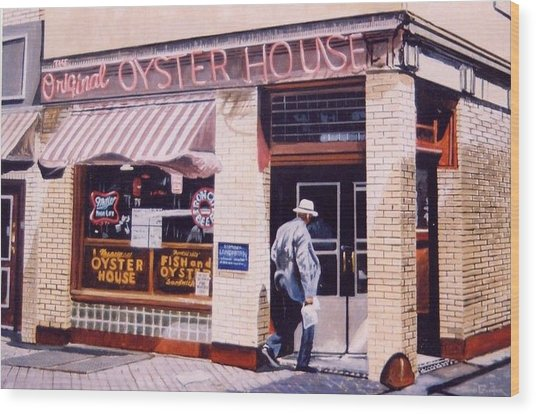 Oyster  House Wood Print