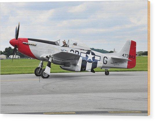P-51d Mustang Wood Print by Dan Myers