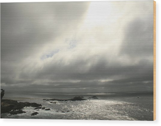 Pacific Ocean At Point Lobos California Wood Print