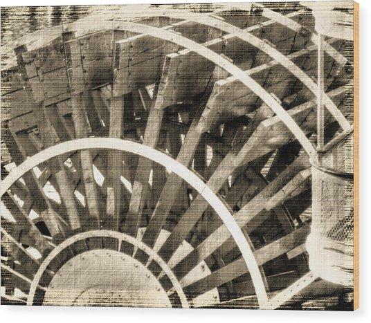 Paddle Wheeler-vintage Wood Print by Barry Jones