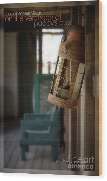 Wood Print featuring the photograph Paddy's Pub by Vicki Ferrari