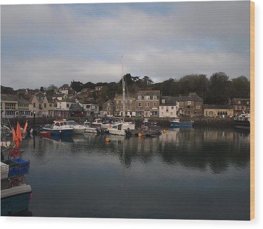 Padstow Harbour Wood Print by Christopher Mercer