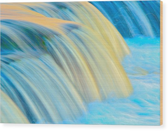 Painted Falls Wood Print