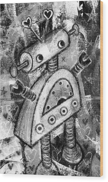 Painted Robot 2 Of 6 Wood Print