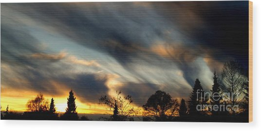 Painted Sky Over Denmark Wood Print