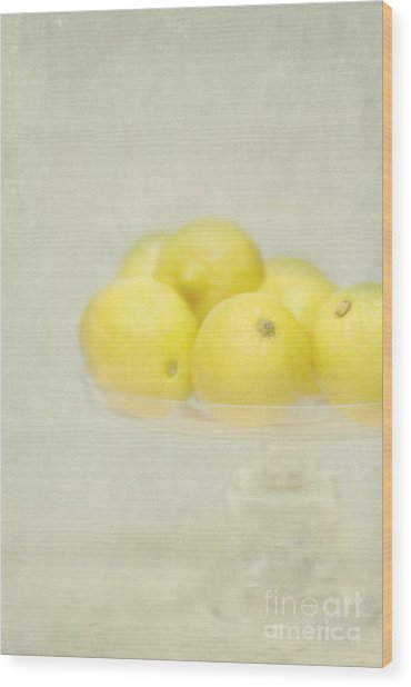 Painterly Lemons Stilllife Wood Print