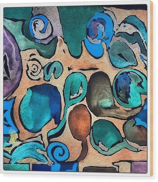 Circles Of Colors.... Wood Print