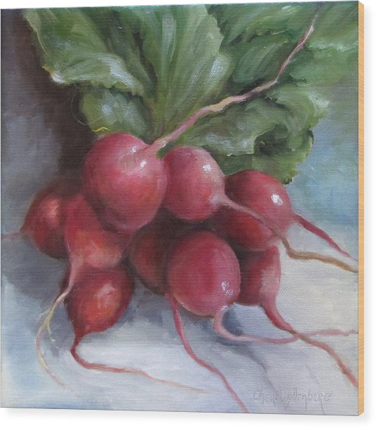 Painting Of Radishes Wood Print
