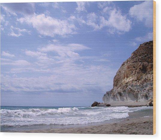 Paisajes Del Cabo De Gata Wood Print by Eire Cela