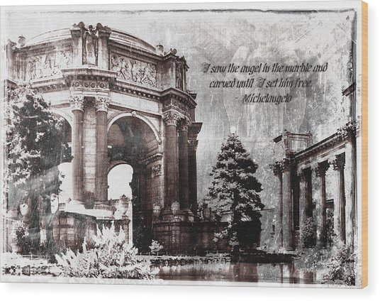 Palace Of Fine Arts Rotunda Wood Print