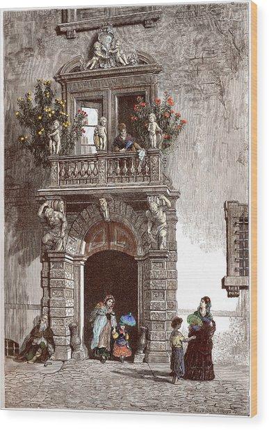 Palazzo Sardagna Trento Wood Print