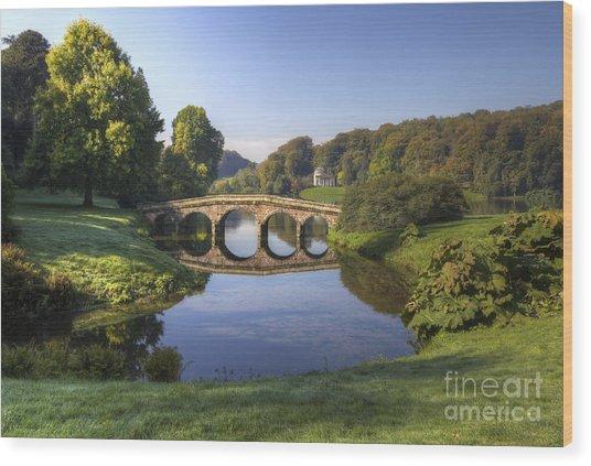 Palladian Bridge At Stourhead. Wood Print