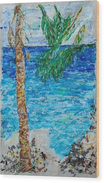 Palm 06 Wood Print by Bradley Bishko