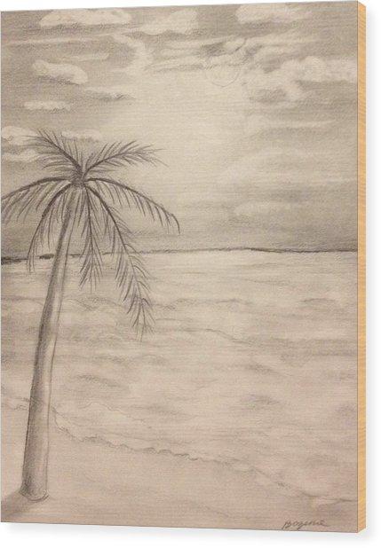 Palm Breeze Wood Print