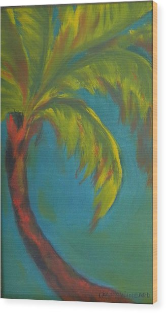 Palm Fusion Wood Print by Lacey Wingard