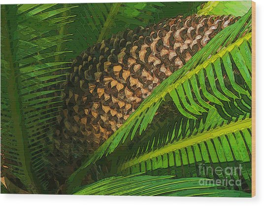 Palm Heart Wood Print