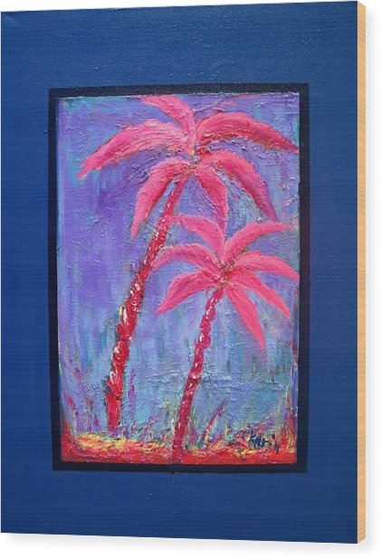 Palm Tree Series 14 Wood Print