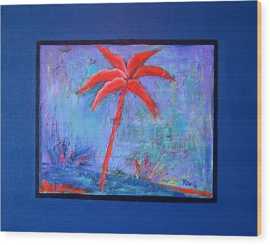 Palm Treeseries 13 Wood Print