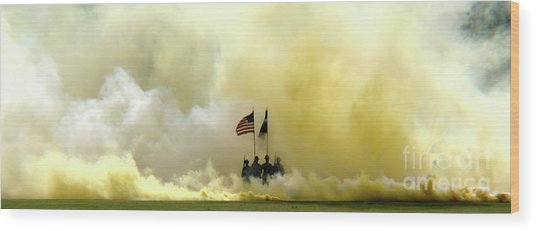 Panoramic Us Army Graduation Wood Print