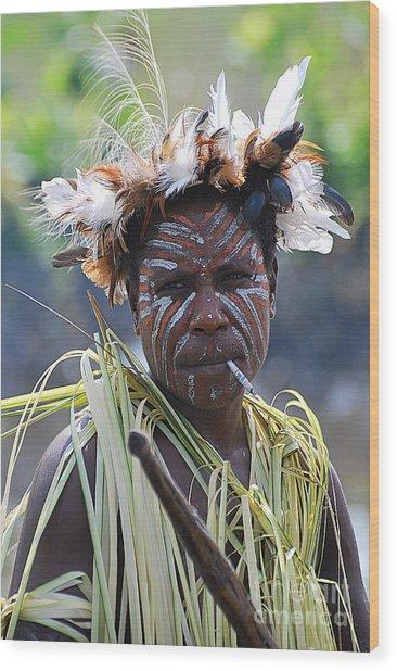 Papuan Fisherwoman Wood Print