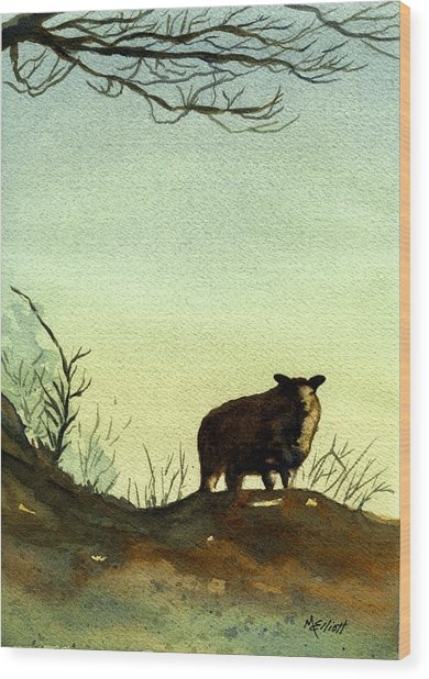 Parable Of The Lost Sheep Wood Print