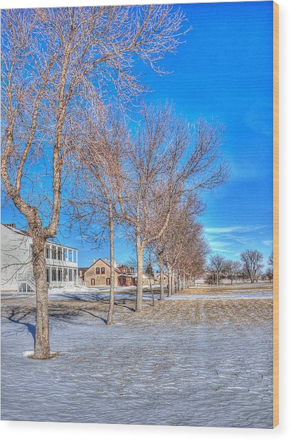 Parade Grounds - Fort Laramie  Wood Print by HW Kateley