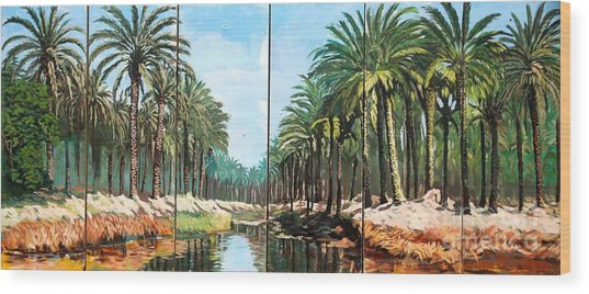 Paradise Canal - Basrah Iraq Wood Print by Unknown