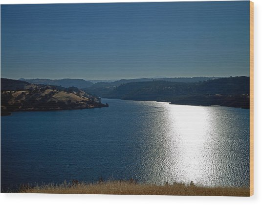 Pardee Lake Wood Print by Joe Fernandez
