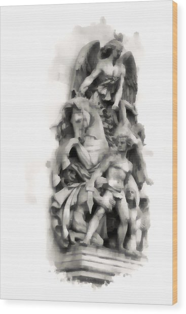Paris Statuary Wood Print