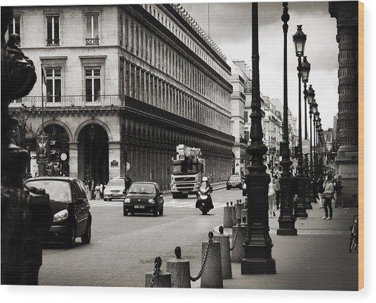 Paris Street Wood Print