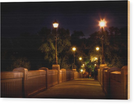 Park Bridge Wood Print by Stuart Deacon