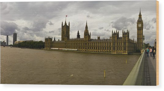 Parliment Wood Print by Keith Sutton