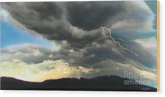Passing Storm Wood Print by David Klaboe