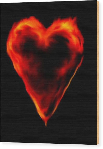 Passionate Heart Wood Print