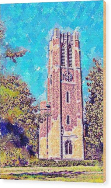 Pastel Beaumont Tower 2 Wood Print by Paul Bartoszek