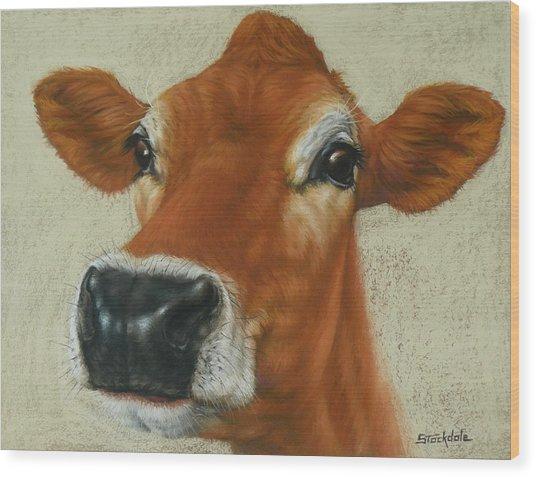 Pastel Cow Wood Print
