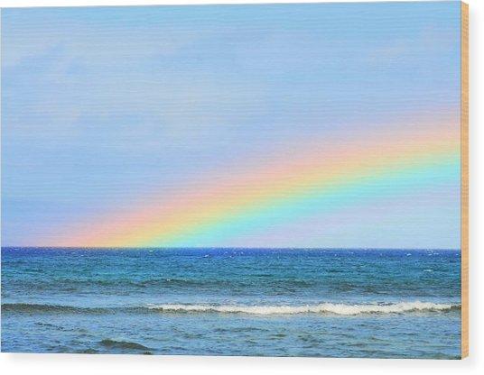 Pastel Rainbow Wood Print