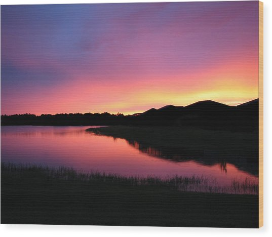 Pastel Sunset Wood Print