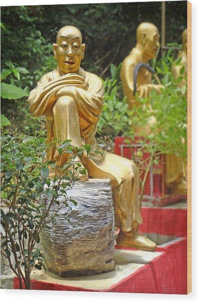 Patience Is Golden Wood Print