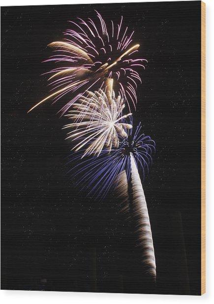 Patriotic Pyrotechnics Wood Print