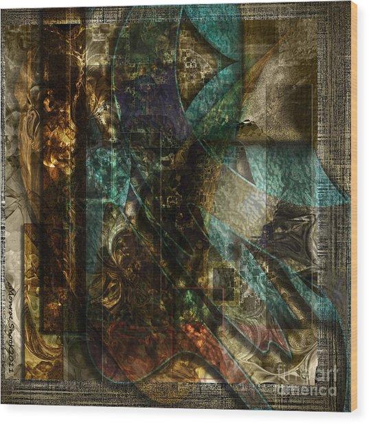 Pattern Down Wood Print by Monroe Snook